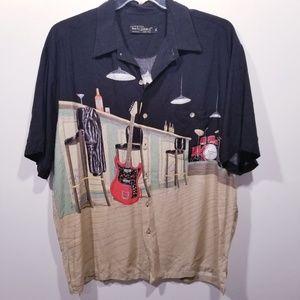 Tori Richard Honolulu Button Front Shirt sz XL